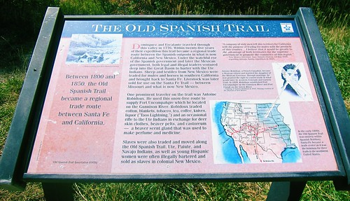 The Old Spanish Trail Historical Marker ~ Hesperus, Colorado