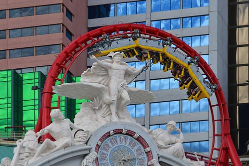 The Big Apple Coaster / Manhattan Express Roller Coaster at the New York-New York Hotel & Casino.  Image Aspect Ratio 16: 9 widescreen