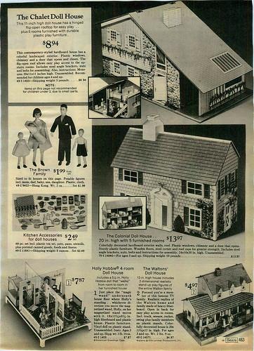 1975 ADVERTISEMENT Dollhouse Waltons Holly Hobbie Colonial Chalet Barbie America
