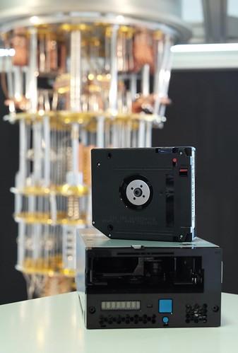 IBM demos world's first quantum computing safe tape drive prototype