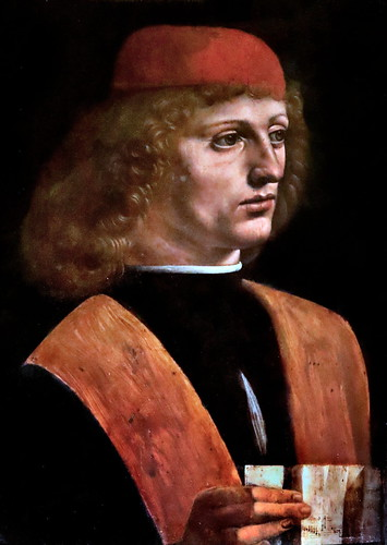 IMG_6716D Leonardo da Vinci 1452-1519  Milan Portrait d'un musicien Portrait of a musician  Milan Pinacoteca Ambrosiana 44,7x32