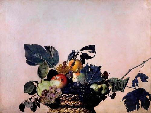 IMG_6716N Caravaggio 1571-1610)  Corbeille de fruit  Fruit basket 1599 Milan Pinacoteca Ambrosiana