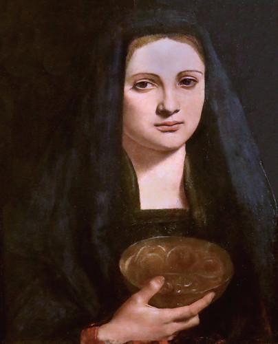 IMG_6716C Giovanni Antonio Boltraffio 1467-1516 Milan Portrait d'une dame en  Marie Madeleine  Portrait of a lady in Mary Magdalene Milan Pinacoteca Ambrosiana