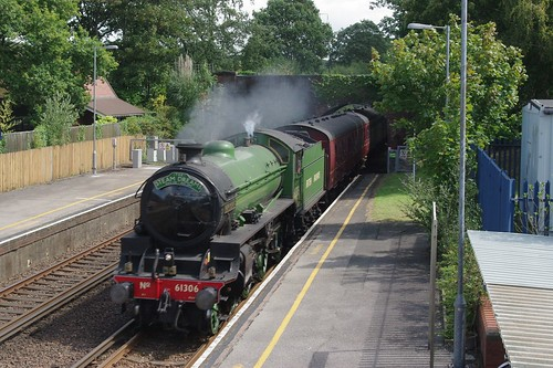 19-437 Ex-BR B1 4-6-0 No. 61306 'Mayflower' passes through Hinton Admiral with a Steam Dreams West Drayton  to Weymouth working