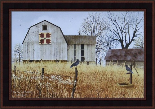 BEAR PAWS QUILT BLOCK BARN by Billy Jacobs