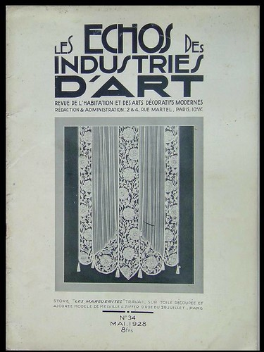 ECHOS DES INDUSTRIES D'ART n°34 1928 CHAREAU RUHLMANN FISCHER DIM, BOULOGNE