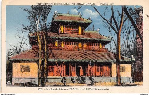 Exposition Coloniale Internationale. Paris 1931. 3037. Pavillon de lAnnam. Blanche and Craste architectes. Braun