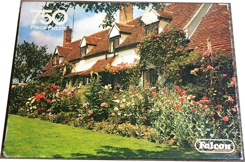 FALCON F ? 750 'THE LAUREL' 60.2X43CM PO ? (Red tiled cottage with 4 gables) DELUXE