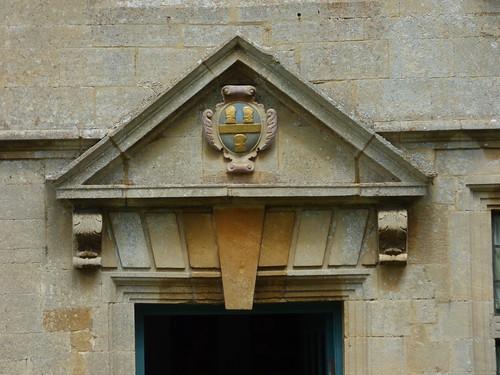Snowshill Manor - shield above the door