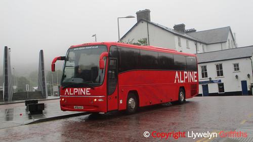 Cerbydau Alpine Coaches Volvo B12B Plaxton Panther AP06 ALP - Blaenau Ffestiniog