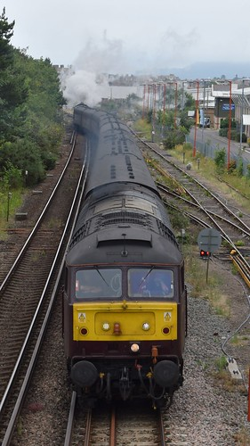 47802 Leading the Dorset Coast Express out of Weymouth with 60009 Union of South Africa