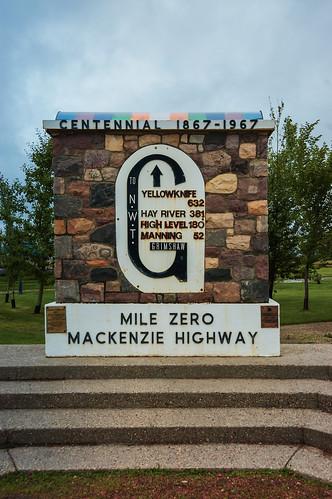 Mile Zero Mackenzie Highway