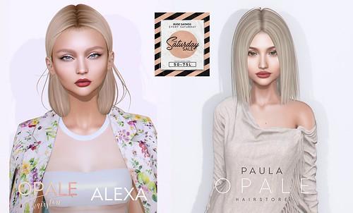 Opale . Alexa & Paula Hair @ The Saturday Sale August 17
