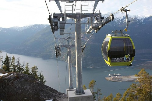 Stunning views of Howe Sound from Gondola Car