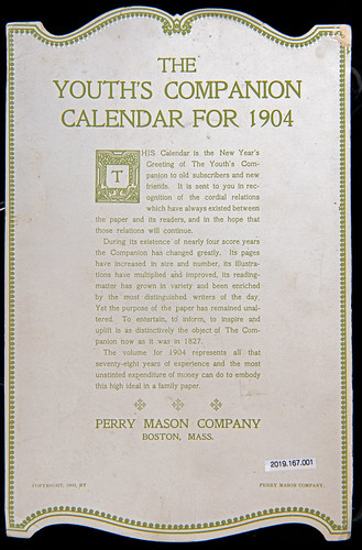 Youth's Companion calendar for 1904