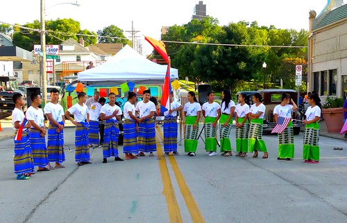 Karen Youth Love Culture group performs at Gifford Park Neighborhood Block Party