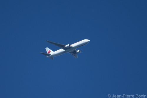 C-FCAE Boeing 767-375(ER) Air Canada, flight AC839 Franfurt (FRA) - Ottawa (YOW) altitude 10 220ft Vertical speed -576 fpm, track 162, speed 329 kts _DSC7670 copy