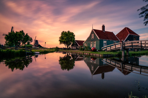Peaceful evening at Zaanse Schans