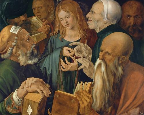 Albrecht Dürer, Jesus unter den Schriftgelehrten (Jesus among the Doctors)