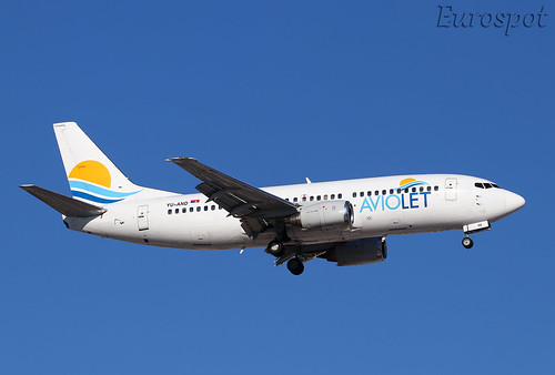 YU-AND Boeing 737 Aviolet