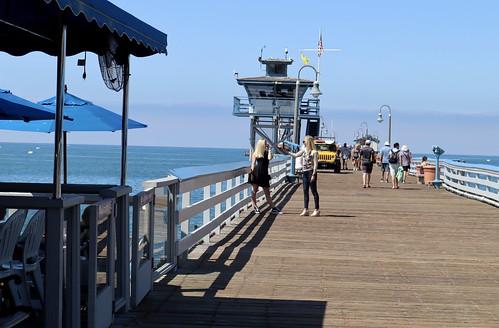 Posing on the Pier