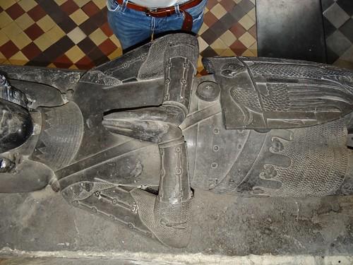 ca. 1360 - 'Jean de Walcourt, lord of Aa, marshal of Hainaut (+ca. 1360 (before 1362))', Sint-Pieter-en-Sint-Guidokerk, Anderlecht, Brussels-Capital Region, Belgium