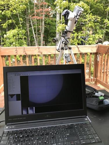 Solar photography setup