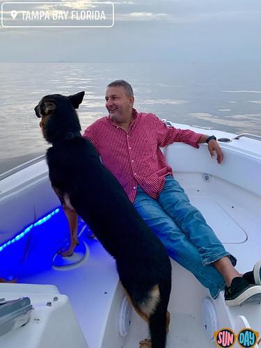 Kennedy's First Boat Ride, Tampa Bay, Florida, Summer Sunday At Dusk - IMRAN™