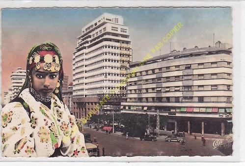 MAROC CASABLANCA Place de France & Immeuble B.N.C.I.