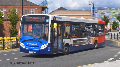 Stagecoach North East 37144, a 2014 Alexander Dennis E20D, reg no YX14RZP