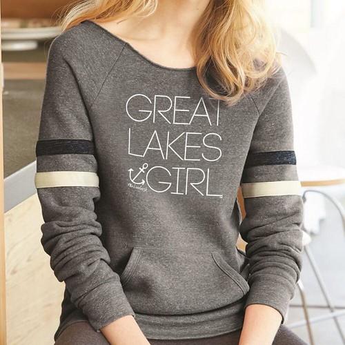 Great Lakes Girl Women's Relaxed Neck Varsity Fleece