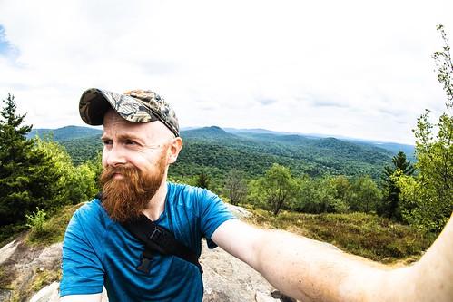 Selfie atop Goodman Mountain