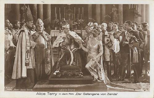 Alice Terry and Lewis Stone in The Prisoner of Zenda