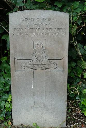 L/18515 Corporal J. Warren