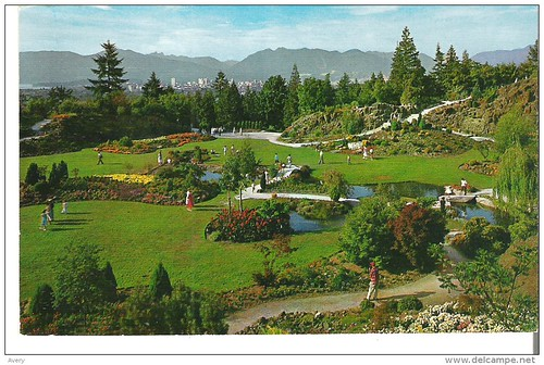 Queen Elizabeth Park, Vancouver, British Columbia Famous Rock Garden in the Arboretum of Little Mountain
