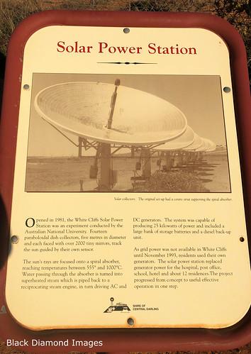 Solar Power Station (1981-1993), Interpretive Sign, White Cliffs, Western NSW