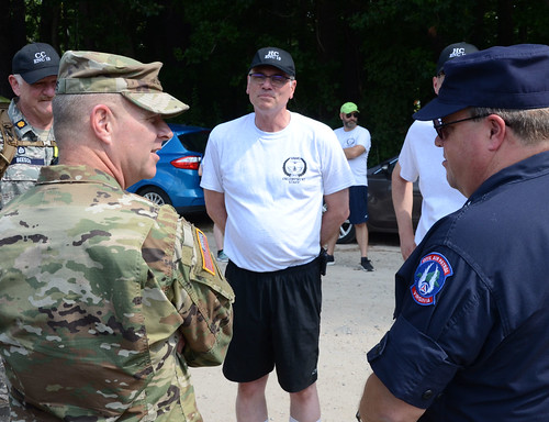 AG visits with Civil Air Patrol during Fort Pickett encampment