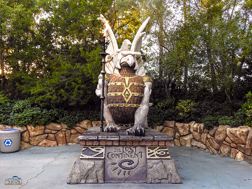 Statue in The Lost Continent at Islands of Adventure in Universal Studios