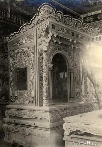 AP2507-Morin-Edmond Environs de Hué, 1930 – Tombeau de Khai Dinh – Autel de la tablette