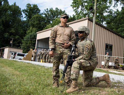 Advanced Camp, 3rd Regiment Cadets take on buddy team live-fire range during Cadet Summer Training.