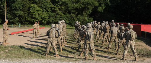 Cadets from 6th Regiment Advanced Camp take on the Grenade Range.