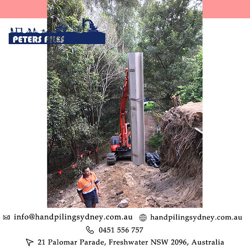 Difficult Access Piling  Peters Piles Australia