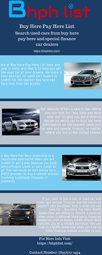 Buy Here Pay Here List | Bad Credit | No Credit