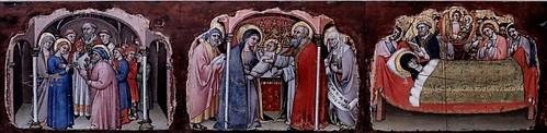 IMG_7436E Simone dei Crocifissi 1330-1399 Bologna Sette episodi della vita della Madonna  Seven episodes from the life of the Madonna  ca 1396-1398 Bologna Pinacoteca Nazionale
