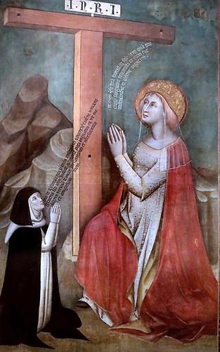 IMG_7436A Simone dei Crocifissi 1330-1399 Bologna Sant'Elena in adorazione della Croce et una monaca  Saint Helena in adoration of the Cross and a nun 1375-1380 Bologna Pinacoteca Nazionale