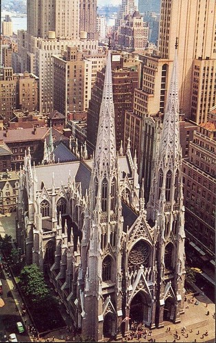 USA - St Patrick's cathédral on fifth avenue at 50th street - NEW YORK City