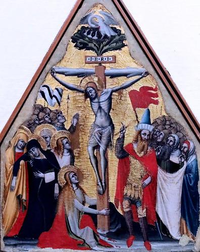 IMG_7432 Simone dei Crocifissi 1330-1399 Bologna Crucifixion Crocifissione di Cristo ca 1370 Bologna Pinacoteca Nazionale