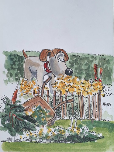Gromit at Homestead Park, York (#DrawingAugust, day 20)