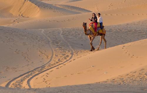 Enjoying the Thar Desert