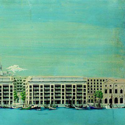 13 la Reconstruction du Vieux-Port (1951-1955) de Marseille avec Auguste Perret et André Devin. Gouaches de Marcel Donatini.